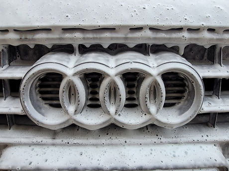 Soapy audi rings from detail