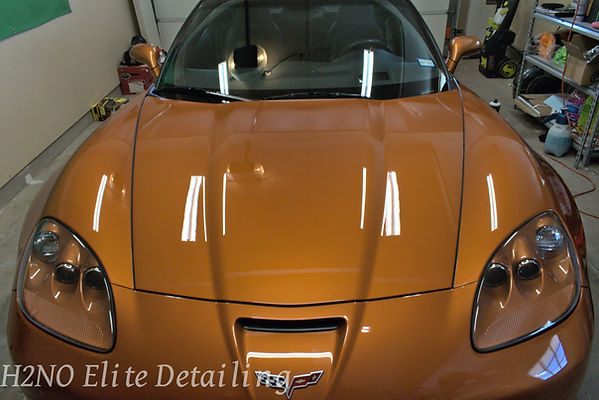 Paint Corrected Corvette hood in El Paso