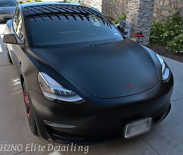 Black Tesla Model 3 paint correction, ceramic coating, detailing in El Paso Texas