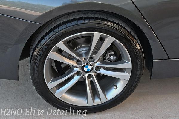 BMW 328i Wheels Detailed in El Paso Tx