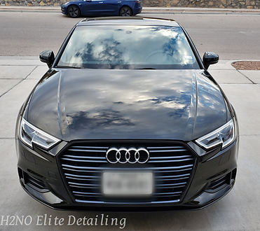 Black Audi paint correction, ceramic coating, detailing in El Paso Texas