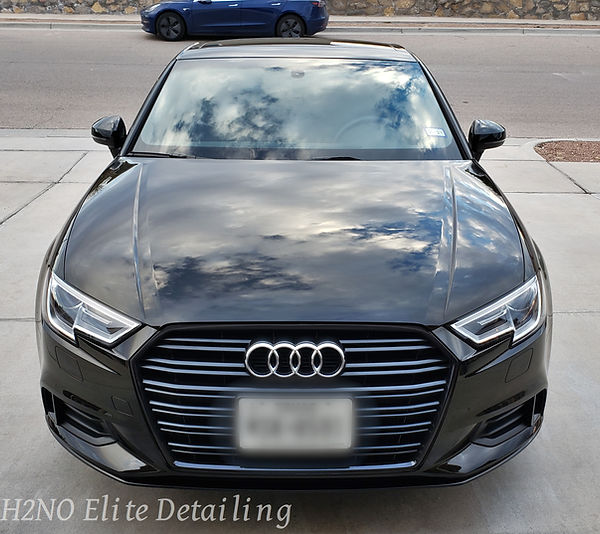 Front Audi with Paint Correction and Ceramic Coating