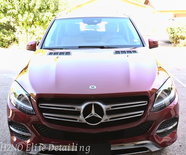 Paint Correction on Hood of Mercedes GLE