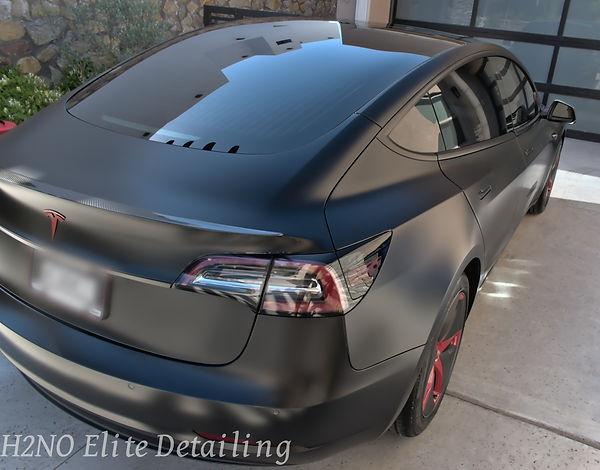 Tesla Tail Light Paint Ceramic Coating