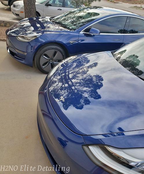 Paint Correction on Tesla Model 3 Hoods