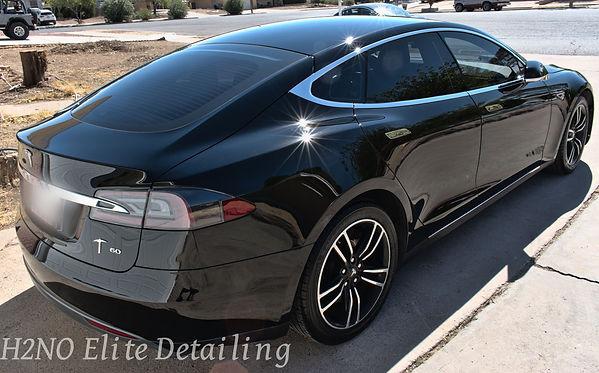 Glistening Paint of Tesla Model S in El Paso Texas