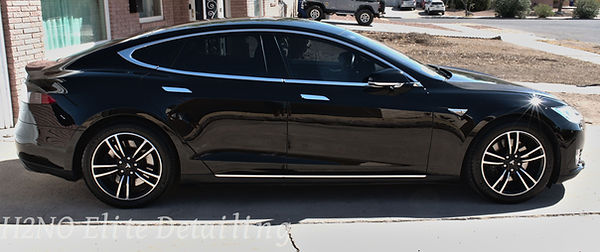 Detailed Tesla Model S in El Paso