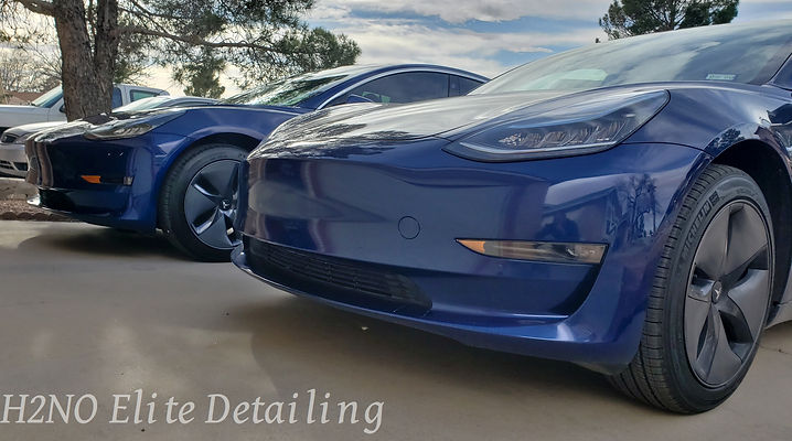Detailed blue Tesla in El Paso TX