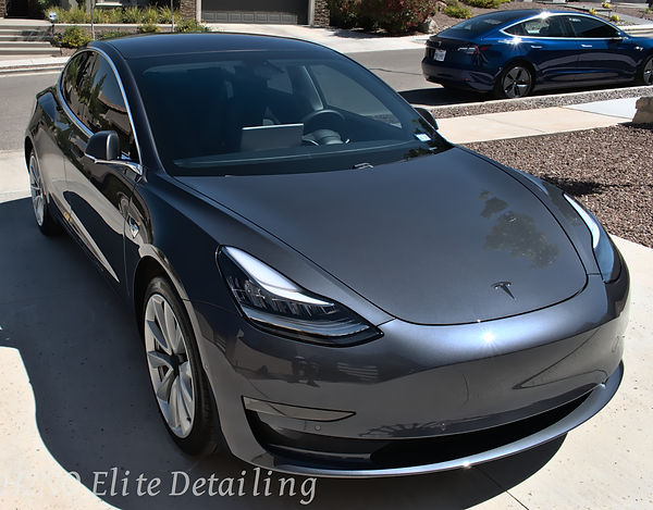 Ceramic Coating Reflection Tesla Model 3