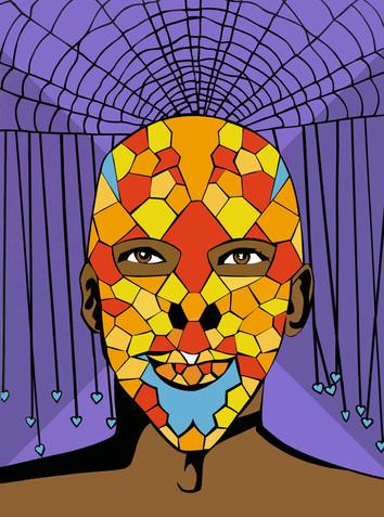 Honeycomb Self-Portrait (Alexander McQueen 'Skull Art' contest entry)