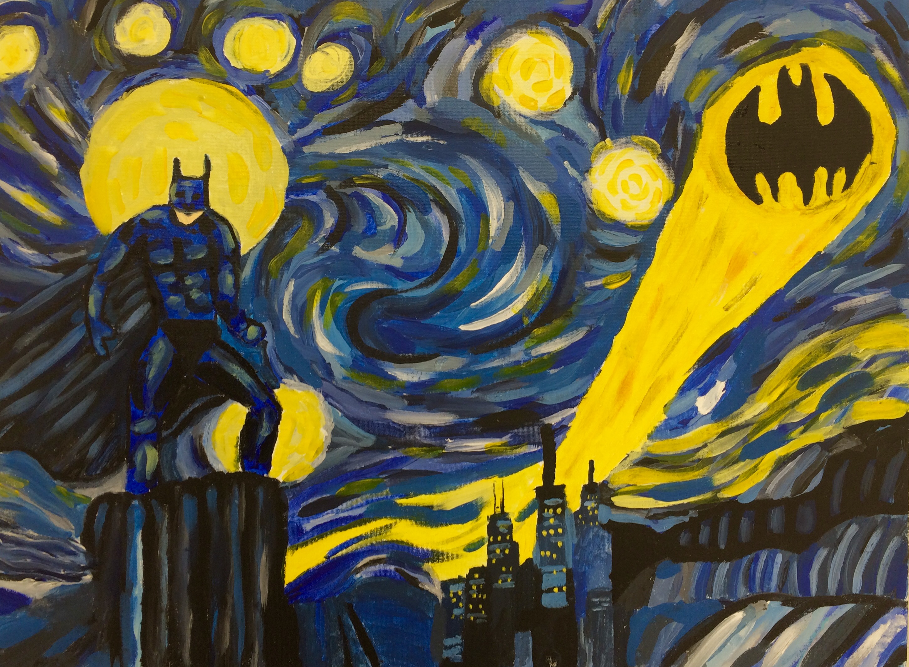 Starry Night Parody Painting