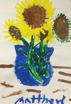 Sunflower Still Life Painting