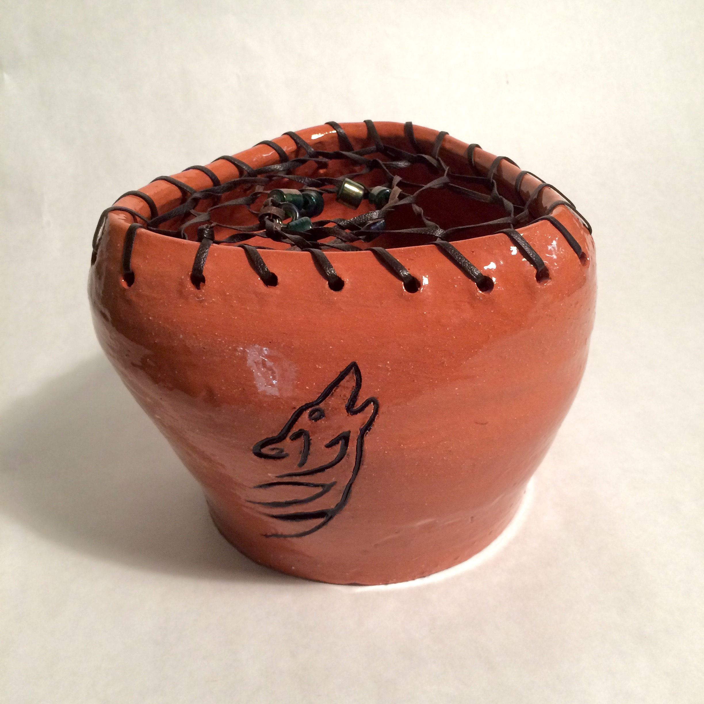 Ceramic Pot with Dreamcatcher