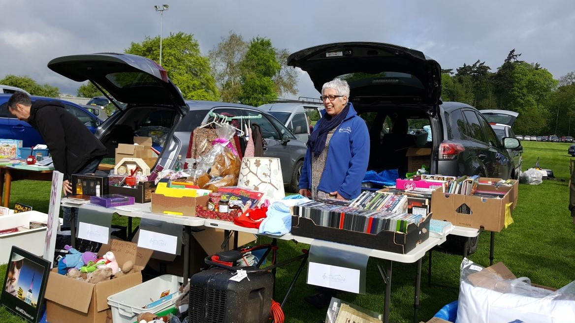 Fundraising at Ancrum Carboot Sale