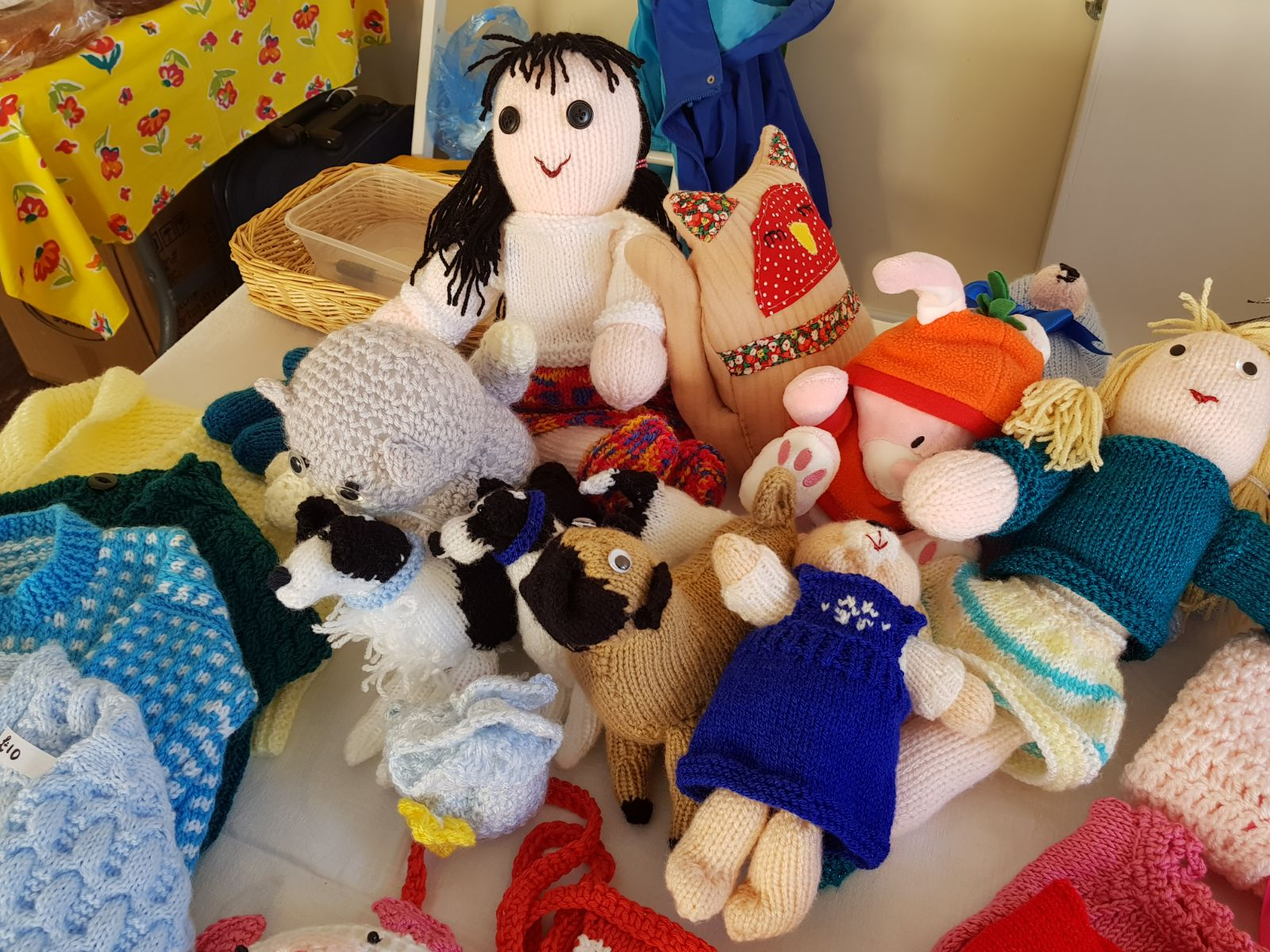 Knitted toys at Selkirk Pop-up Shop