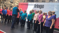 Busking Mercat Stage Edinburgh 2017