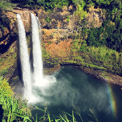 Waterfalls and rainbows...blessed to begin #sweet16 on the island of abundance