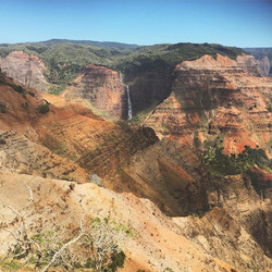 Incredible that this massive canyon exists on a tiny island so lush in other places