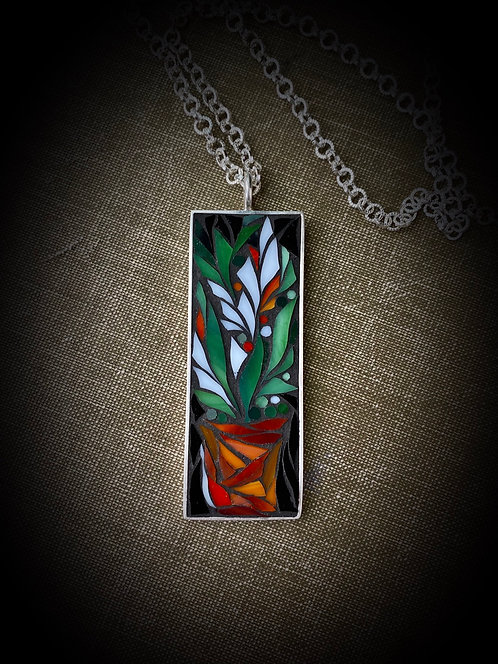 "Mosaic Pendant ""Flora"""
