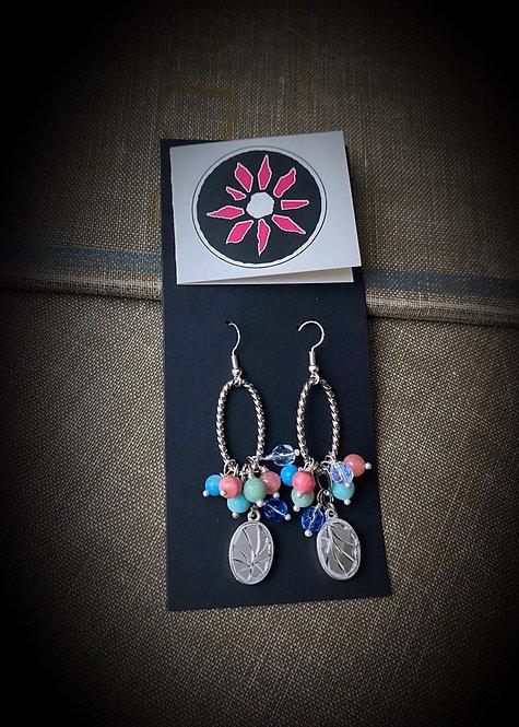 Mosaic Mirror Earrings - Pinks & Blues