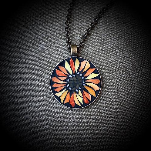 Sunflower Mosaic Pendant