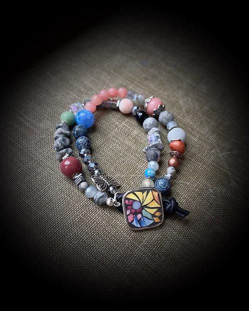"""""""Rise Above"""" Button Bracelet"""