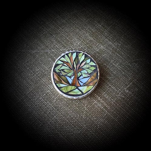 """Mystery"" Mosaic Brooch"