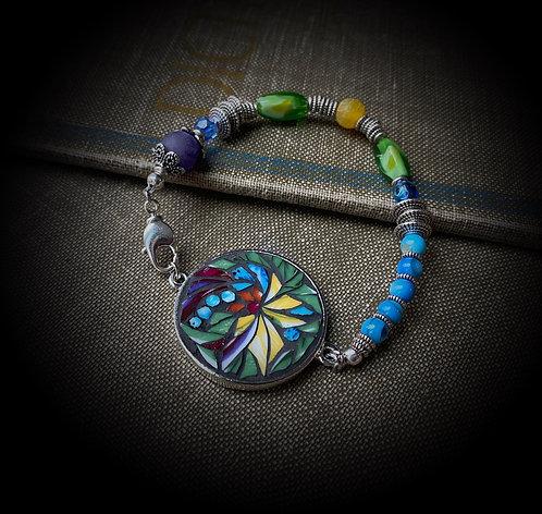 """Strong"" Mosaic Beaded Bracelet"