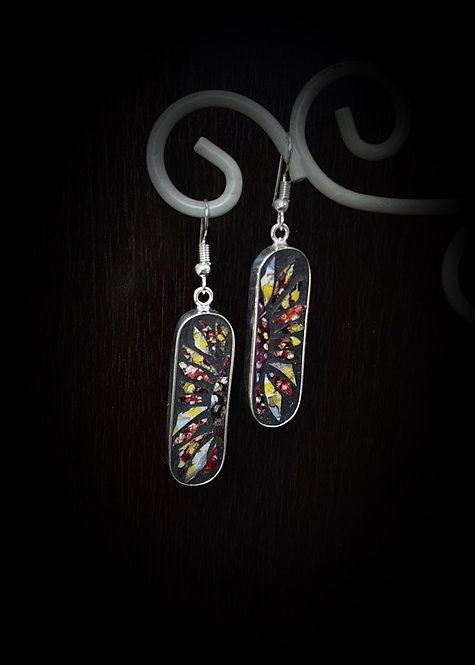 """Sunflower"" Mosaic Earrings"