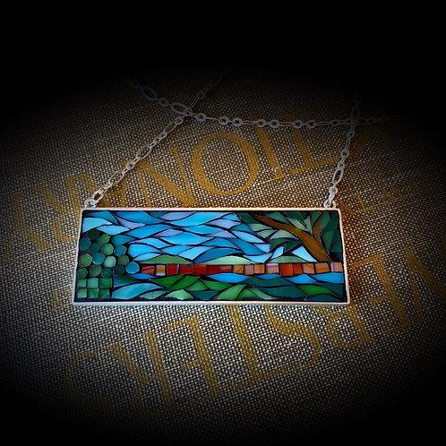 """Home"" Mosaic Pendant"