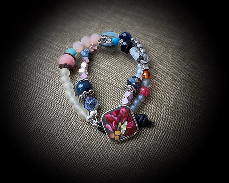 """Stories of Love"" Button Bracelet"