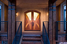 residential wood double doors