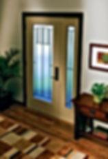 residential full lite metal door with side lite