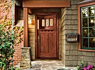 residential single dutch door with side lite