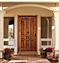 residential wood door