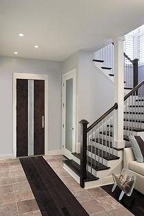 closet doors and stairs