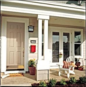 residential metal six panel door