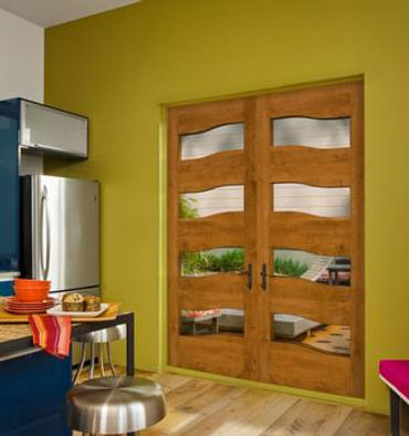 residential wood double doors with vision lite