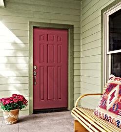 residential nine panel metal door