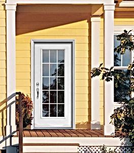 residential metal door with full lite