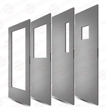 door with different size vision lite