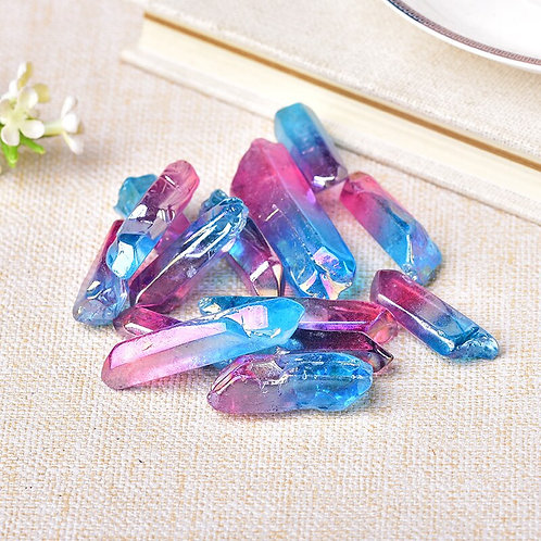 50g Electroplated Colourful Crystal Wand