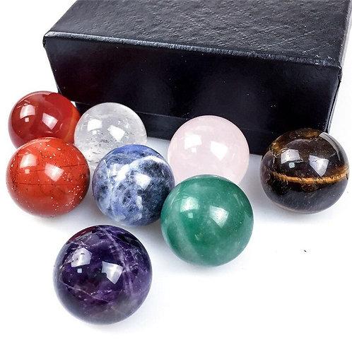 Natural Crystals Ball 7 Chakras Gemstone