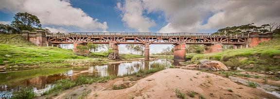 below the bridge panorama