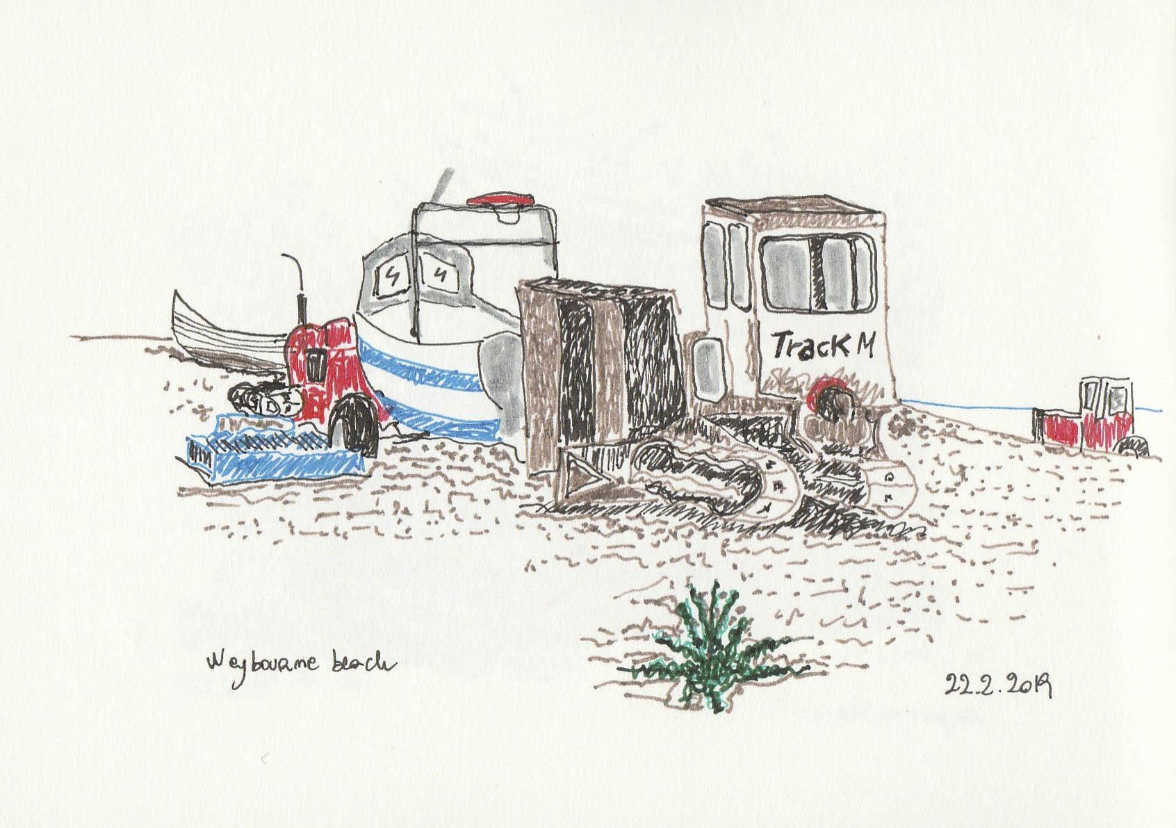 Tractor Weybourne beach