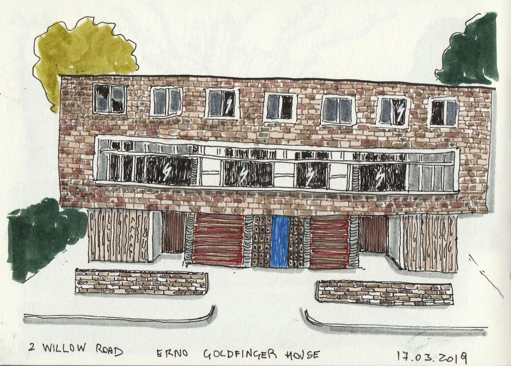 2 Willow Rd Erno Goldfinger