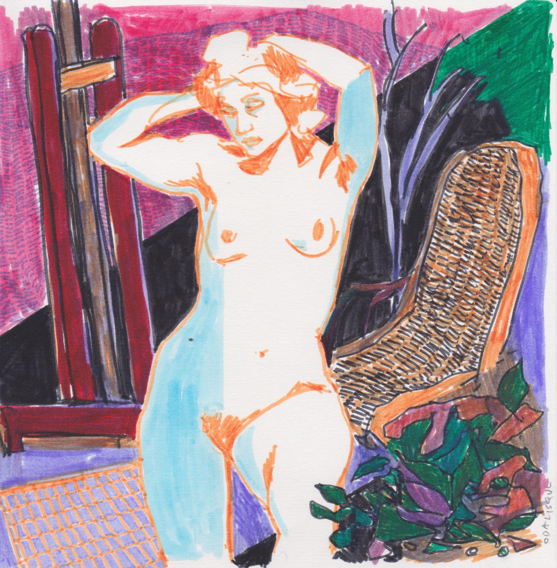 Odalisque, after Matisse