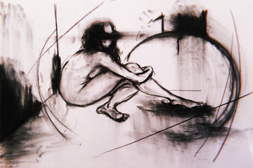 nude in a space i