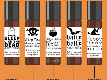 Halloween Essential Oil DIYs! Roller recipes, spray recipes & diffuser blends - oh my!