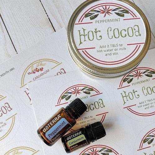 Hot Cocoa Mason Jar Label